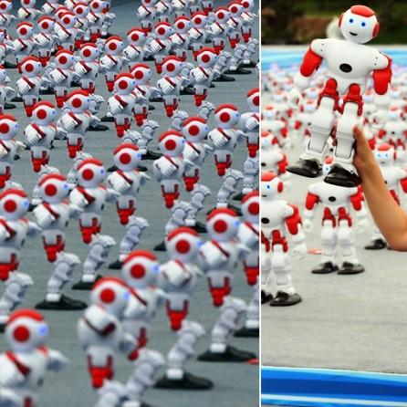 Aksi Pemecahan Guinness World Record Robot pintar menari